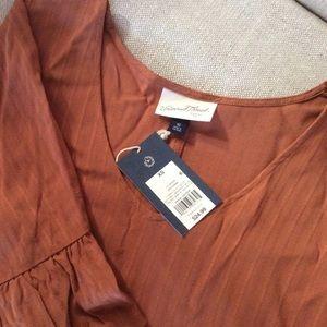 Boho Short Dress, in Rust